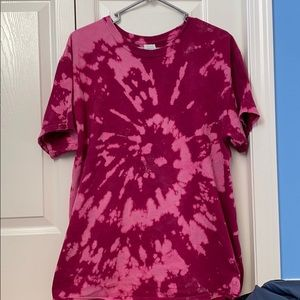 PINK TRENDY BLEACHED SHIRT